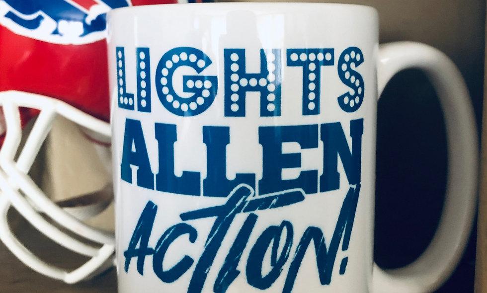 LIGHTS, ALLEN, ACTION! 15oz Mug