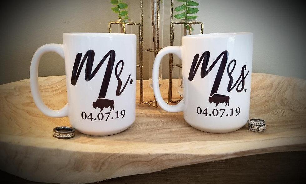 Buffalo Wedding Mug Set