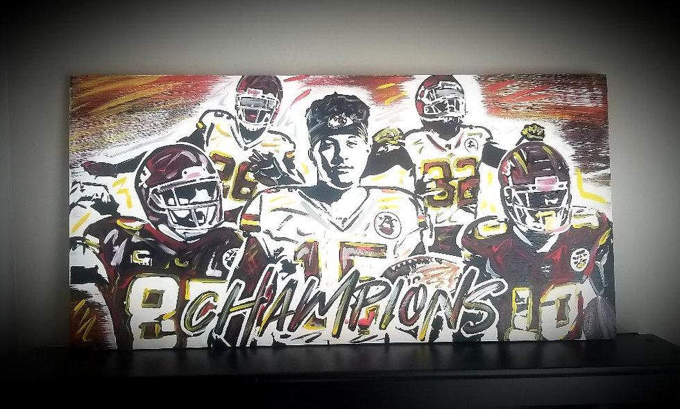 Chiefs Super Bowl Champions 16x32