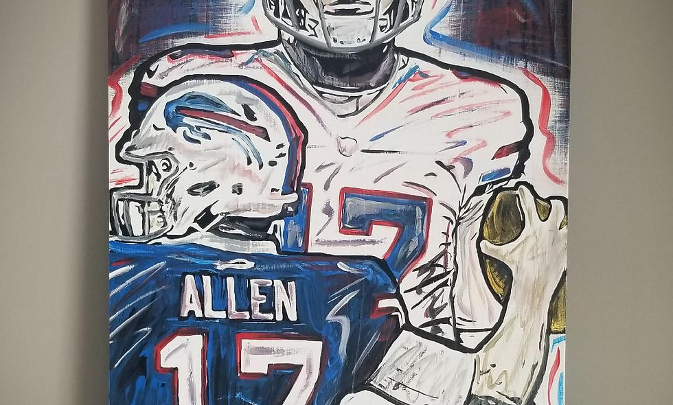 Josh Allen 16x28