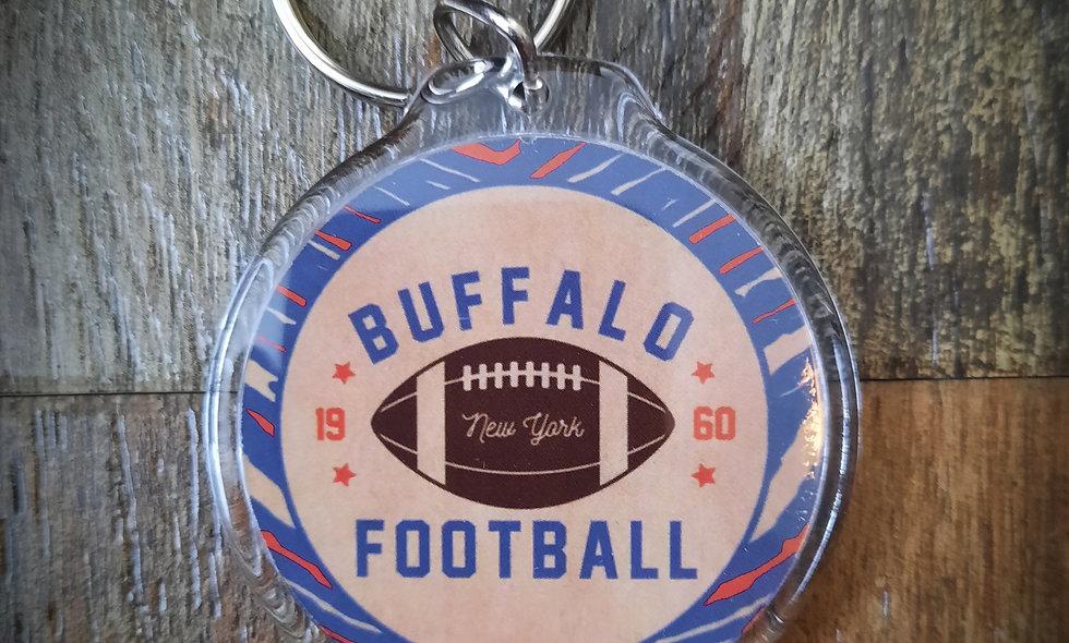 """Buffalo Football"" Round Keychain"