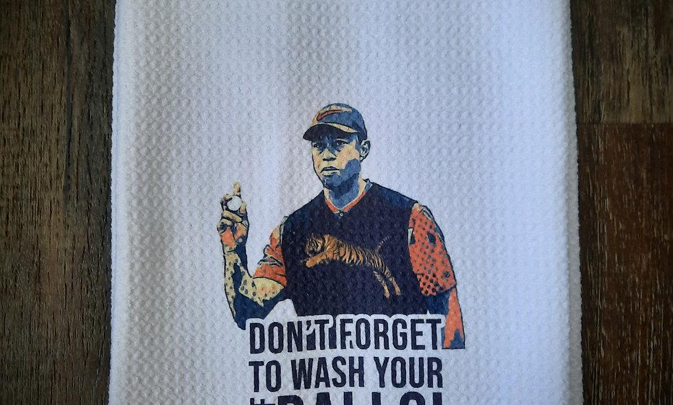 Tiger Woods Golf Waffle Towel 16x24
