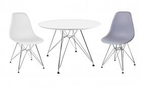 Bianca Dining Set White High Gloss with Chairs