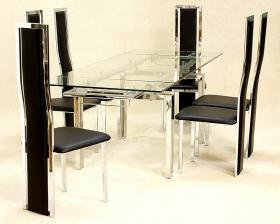 Crystal Extending Table set 6