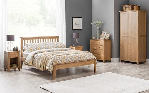 Salerno Shaker Bed - Solid Oak
