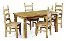 Corona Dinning set small 4 chairs