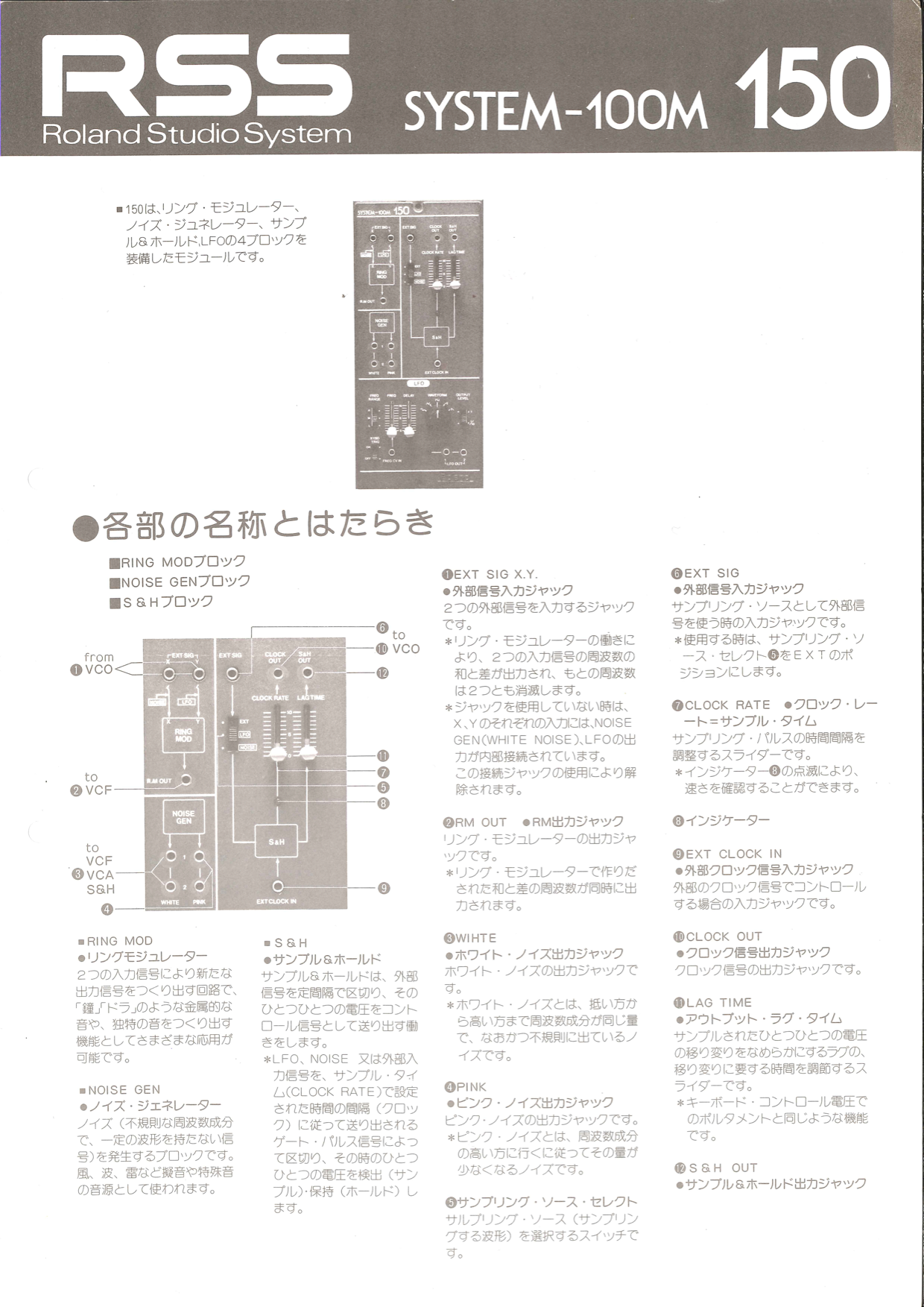 System 100m module 150