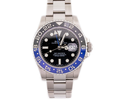 GMT Master II Black Dial Stainless Steel