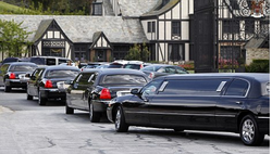 Funeral limousine