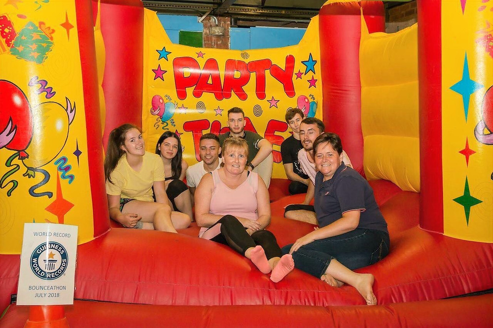 Bouncy Castle record  holders on the bouncy castle