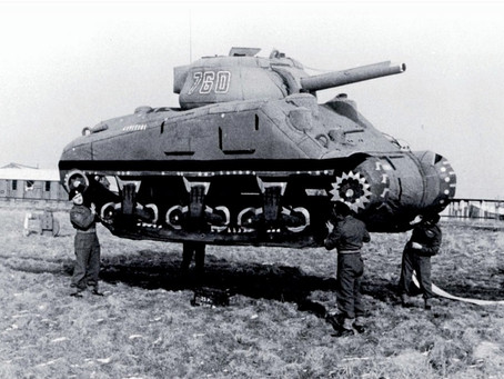 How inflatable tanks served in World War II
