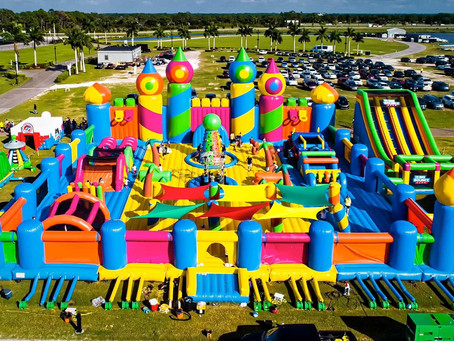 Worlds Biggest Bouncy Castle!