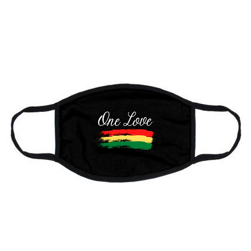 "Black ""One Love"" Face Mask"