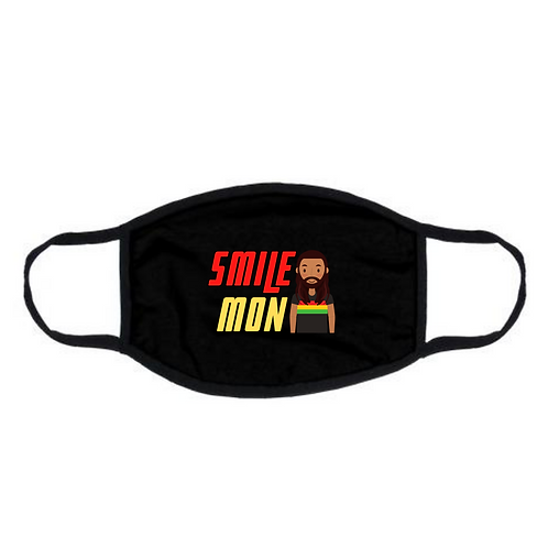"Black ""Smile Mon"" Face Mask"