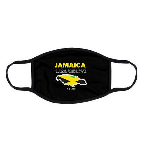 "Black ""Jamaica Land We Love"" Face Mask"