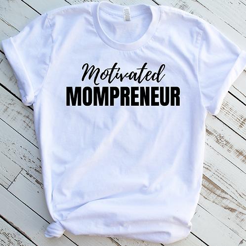 Motivated Mompreneur (Black Text Edition)