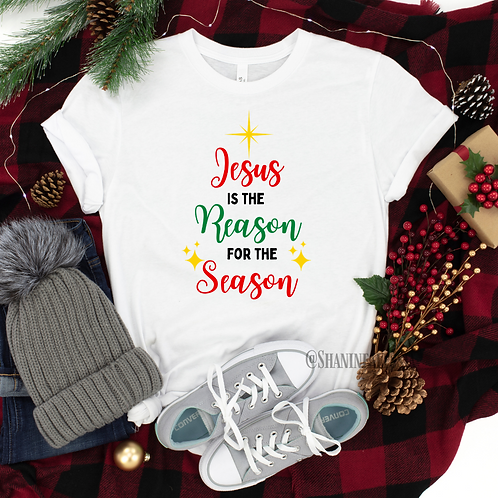 Jesus is the Reason For The Season White Tee
