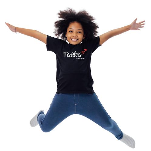 Black Fearless Kid's Shirt