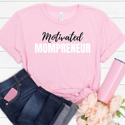 Motivated Mompreneur Tee, Ultra Soft Pink Tee