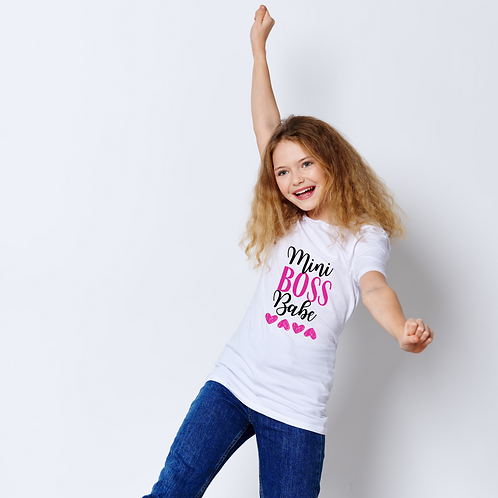 Mini Boss Babe Kid's Shirt