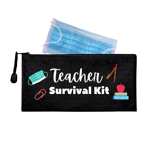 Teacher's Survival Waterproof Mask Pouch