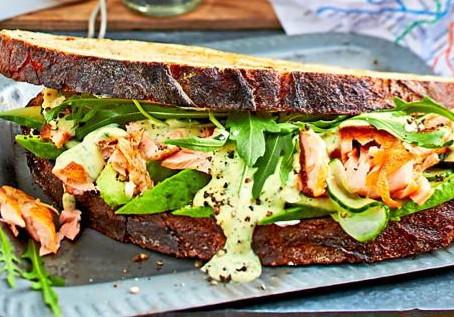 Lachs-Sandwich