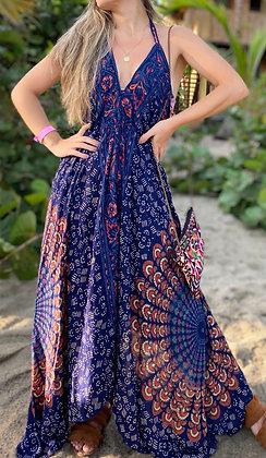 Vestido Mandala Azul