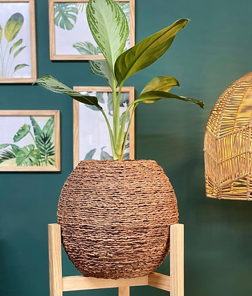 Canasto Esfera Palma de Seje 30 cm