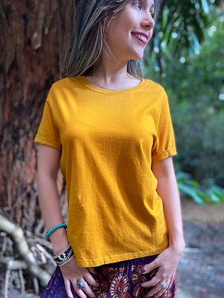 Camiseta Basic Mostaza