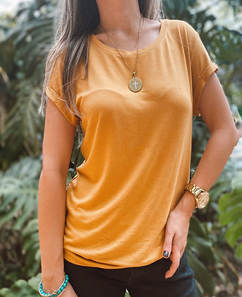 Camisa Basic Mostaza