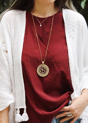 Collar Mandala Tejido