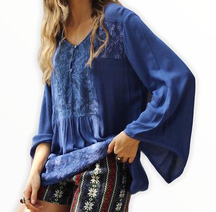 Blusa Amjer Azul