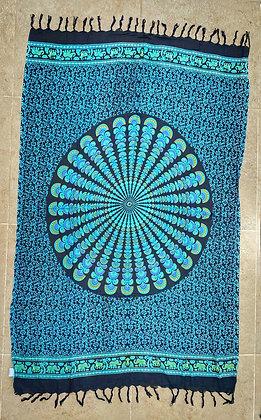 Mandala Manta Pareo Azul