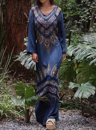 Vestido Hindu Surat Azul