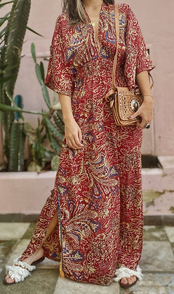 Vestido Mahal Vinotinto