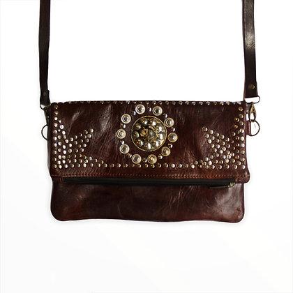 Cartera Cortona Leather Chocholate