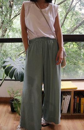 Pantalon Lino Verde