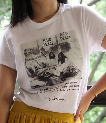 T-shirt Camisa Jhon Lennon Paz