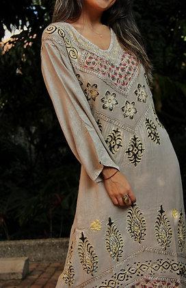 Vestido Hindu Surat Gris