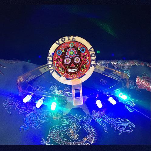 VOTE PEACE Dia de los Muertos LED glasses