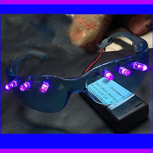 Zoomwear Light-up Glasses Blue/Pink LED (solid color Lights)
