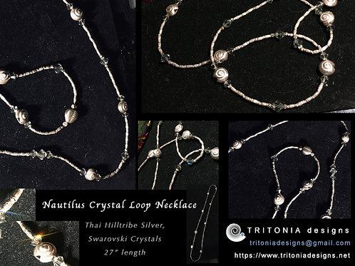 Crystal Loop Long Necklace