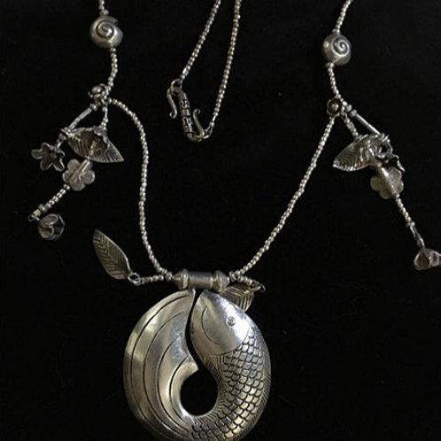 Circle Fish Thai HIlltribe Silver