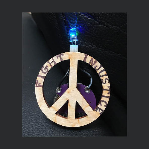 Fight Injustice Peace Pin