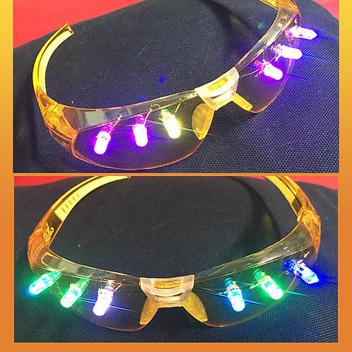 Zoomwear Light-up Glasses - Amber/ Multi LED (slow cycle through colors)