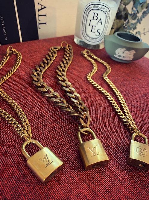 Vintage LOUIS VUITTON Lock on Chain