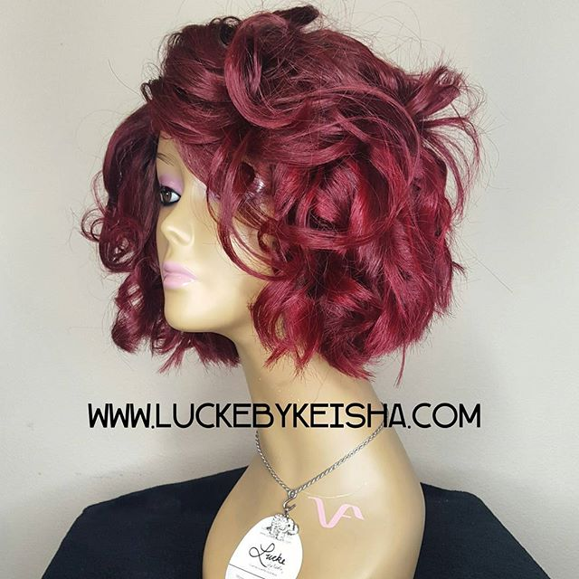 ❤❤❤❤ #luckegirl #luckebykeisha #wigmaker #redhair #customwigs #wiglife #customcolor