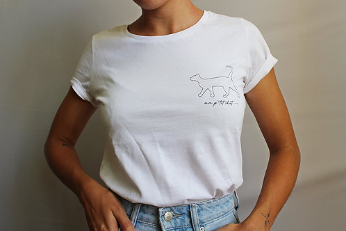 """T-shirt 100% coton bio """"mon p'tit chat"""""""