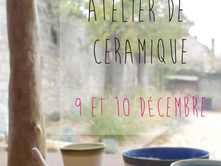 Nouvel atelier ! Portes ouvertes 9 et 10 décembre