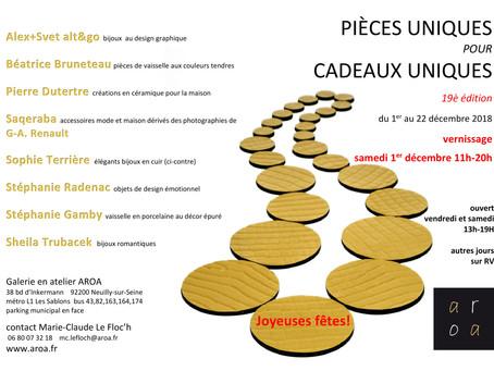 Exposition Pièces Uniques à Neuilly